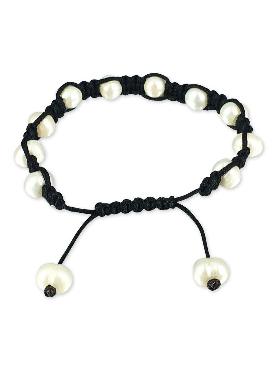 PACIFIC PEARLS MERMAID BEACH COLLECTION Yin Yang Shamballa Pearl Bracelet