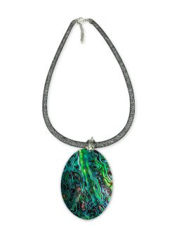 PACIFIC PEARLS NEW ZEALAND ABALONE COLLECTION 50mm Abalone Statement Necklace