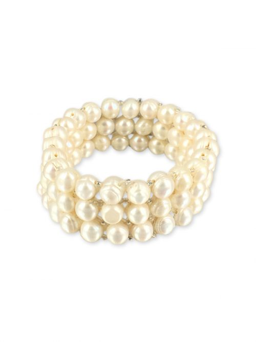 PALLISER LAGOON COLLECTION White Triple Strand Pearl Stretch Bracelet