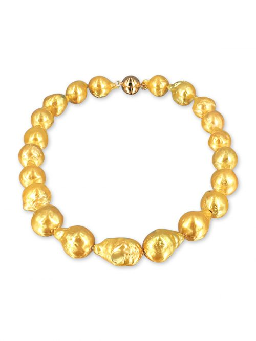 POLYNESIA COLLECTION 10-15mm Gold Baroque Pearl Necklace