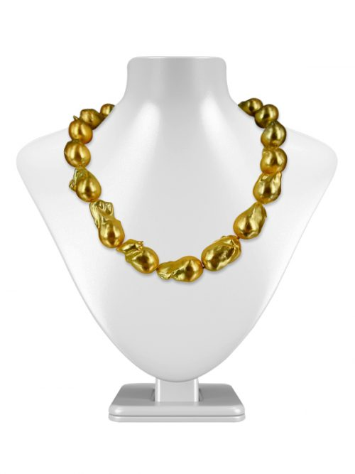 POLYNESIA COLLECTION GOLD BAROQUE 15-20MM PEARL NECKLACE