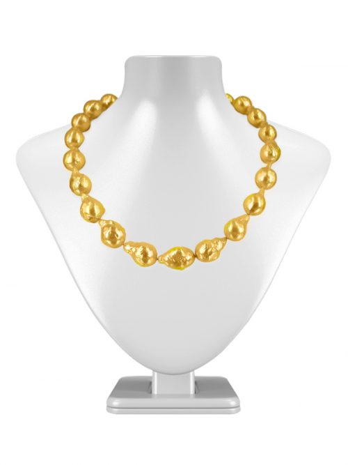 PACIFIC PEARLS POLYNESIA COLLECTION Gold 10-15mm Baroque Pearl Necklace