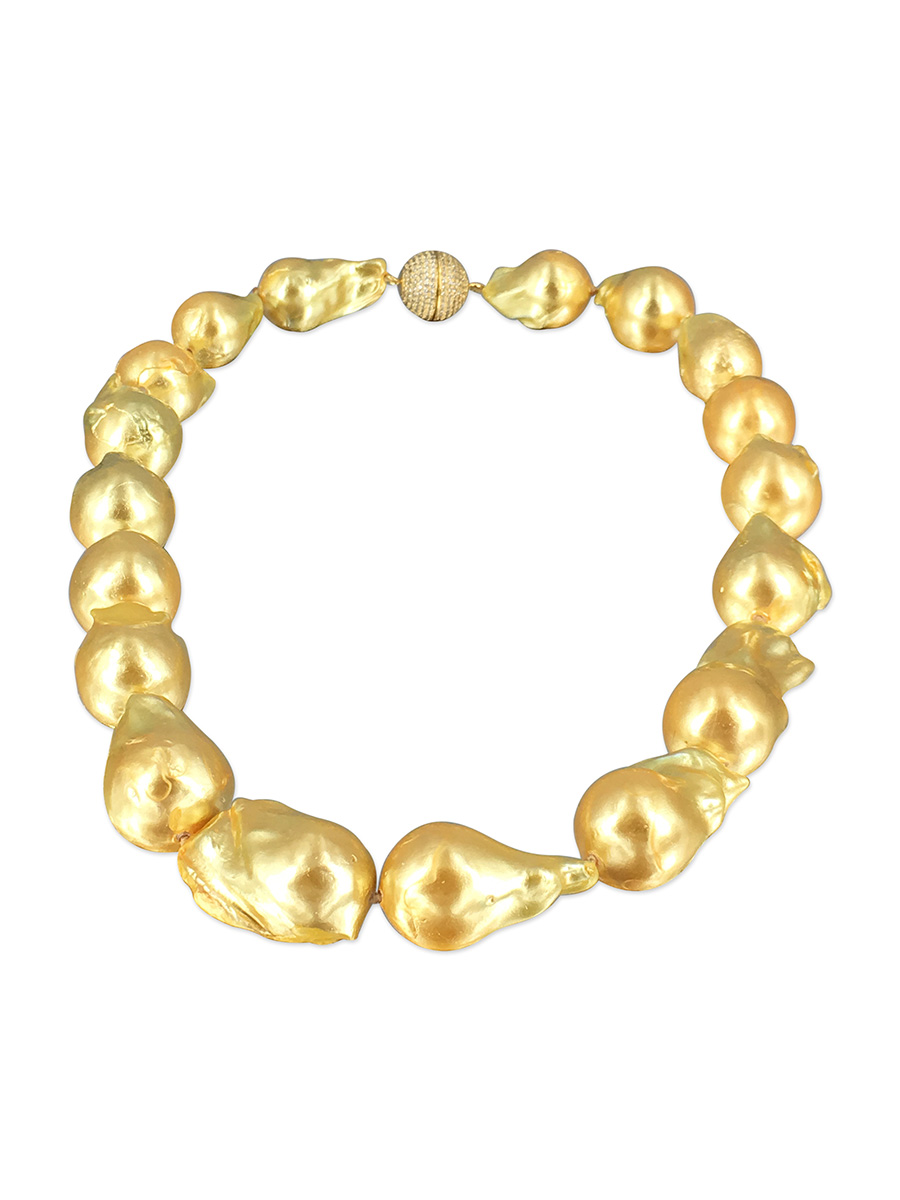 Polynesia Collection Gold 15 20mm Giant Baroque Pearl
