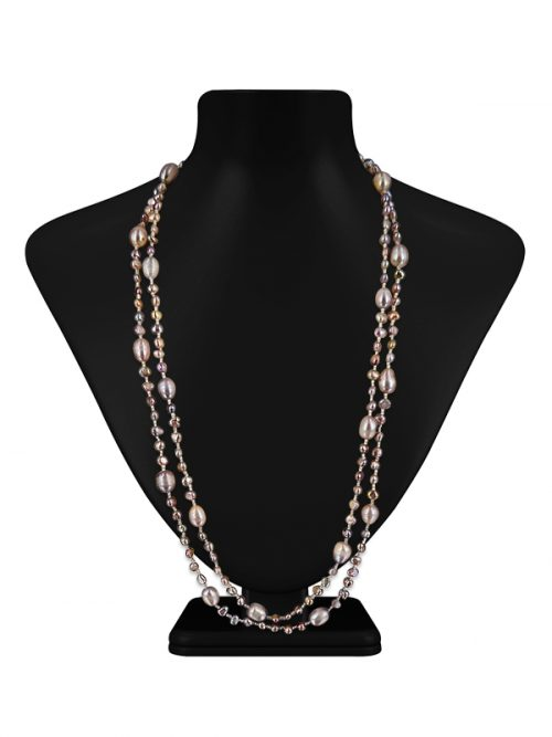 SULU SEA COLLECTION PINK DOUBLE STRAND PEARL NECKLACE