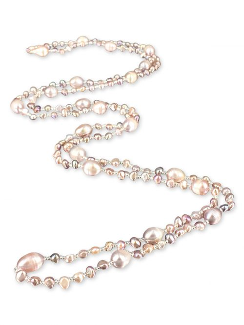 PACIFIC PEARLS SULU SEA COLLECTION Pink Versatile Double Strand Pearl Necklace