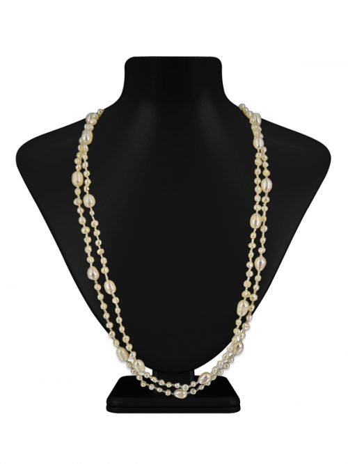 SULU SEA COLLECTION WHITE DOUBLE STRAND PEARL NECKLACE