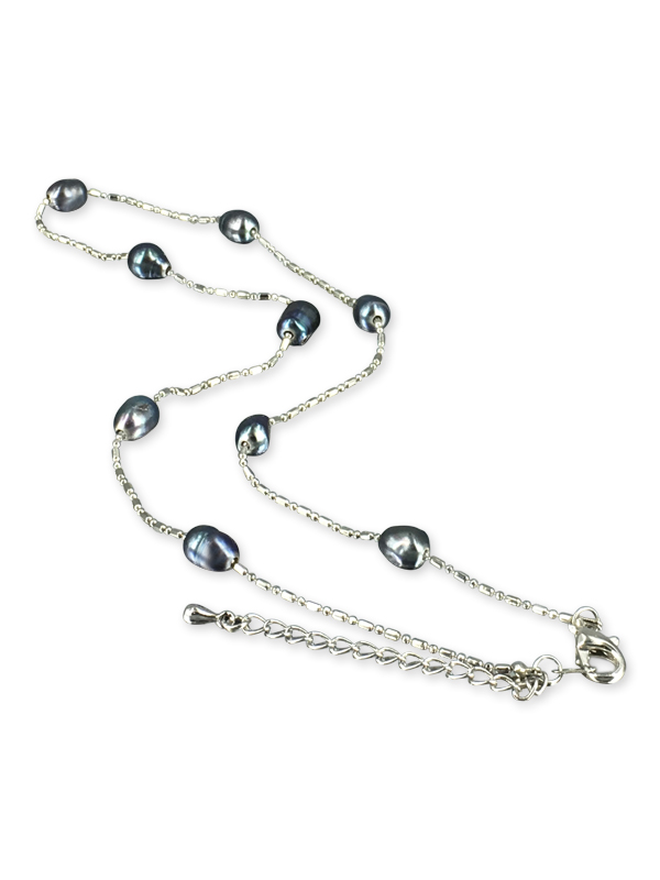 PACIFIC PEARLS TERAINA COVE COLLECTION Black 6-7mm Pearl Necklace