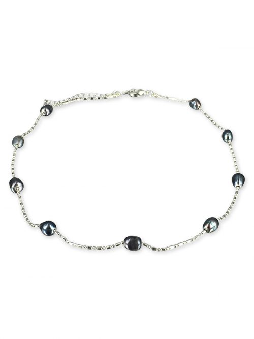 TERAINA COVE COLLECTION Black 6-7mm Pearl Necklace