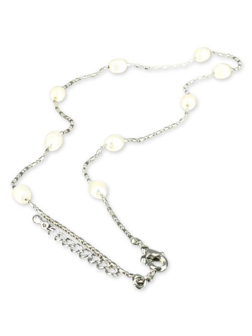 PACIFIC PEARLS TERAINA COVE COLLECTION White 6-7mm Pearl Necklace
