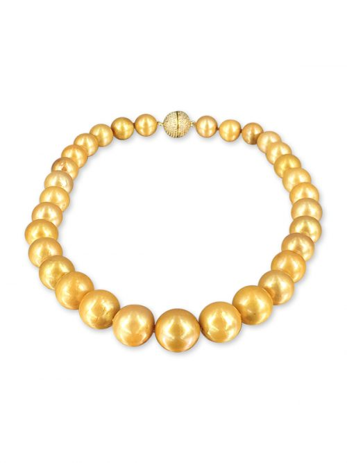 VANUATU COLLECTION 12-15mm Gold Pearl Necklace