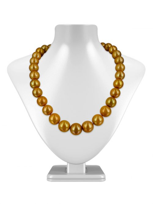 VANUATU COLLECTION GOLD 12-15MM EDISON PEARL NECKLACE