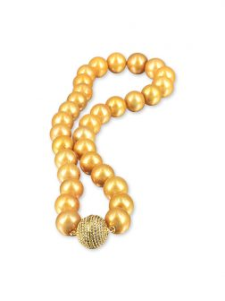 PACIFIC PEARLS VANUATU COLLECTION Gold 12-15mm Pearl Necklace