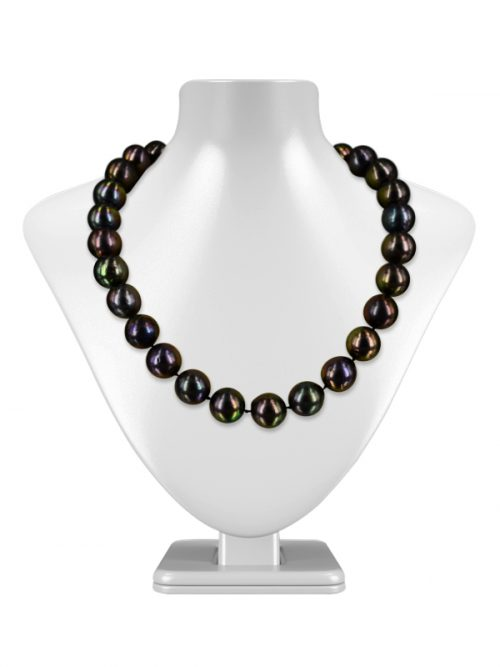 VANUATU COLLECTION PEACOCK 12-15MM EDISON PEARL NECKLACE