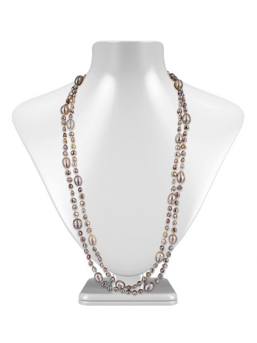 VERSATILE SULU SEA COLLECTION DOUBLE STRAND PINK PEARL NECKLACE