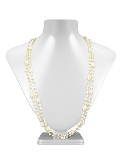 WHITE SULU SEA COLLECTION Versatile Double Strand Pearl Necklace