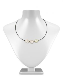 PACIFIC PEARLS MAUNA LOA COLLECTION Metallic Ripple Pearl Choker