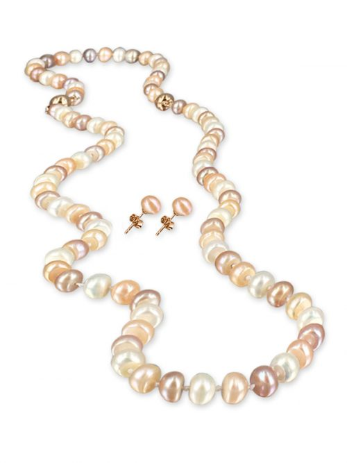 DAWN 7-8MM PALLISER LAGOON COLLECTION VERSATILE PEARL NECKLACE, BRACELET AND EARRING SET