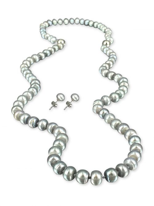 LADY GRAY PALLISER LAGOON COLLECTION 7-8MM VERSATILE PEARL NECKLACE, BRACELET AND EARRING SET