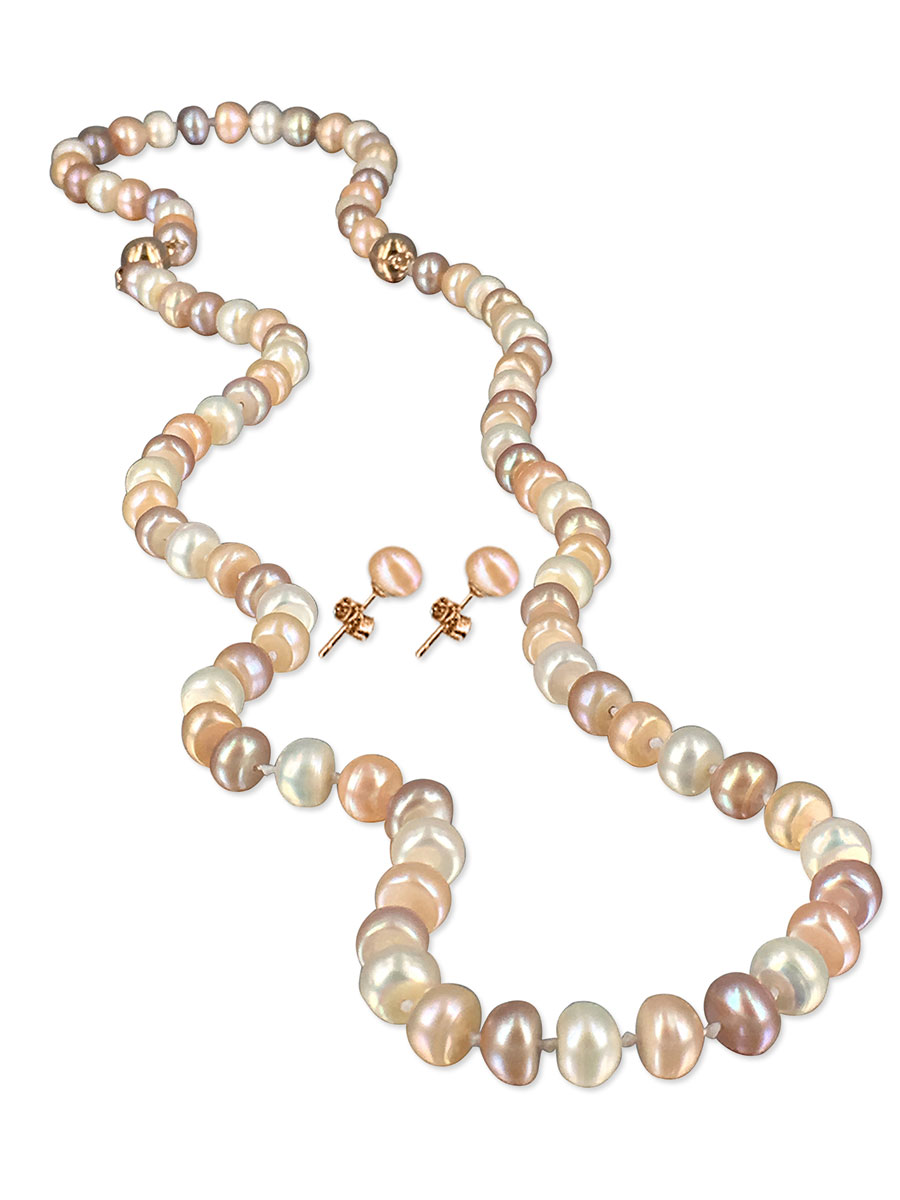 Palliser Lagoon Collection Dawn 7 8mm Versatile Pearl Necklace