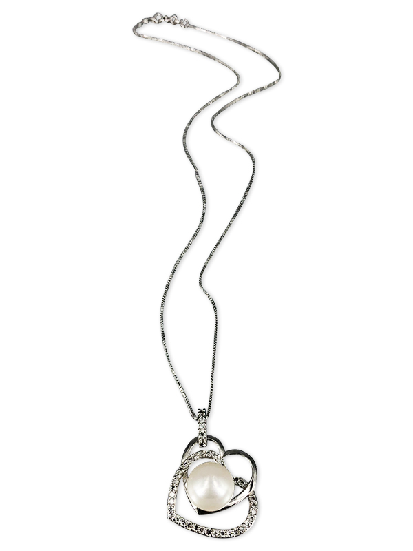 PACIFIC PEARLS ROYAL FALLS COLLECTION Diamond Encrusted Eternal Pearl Pendant