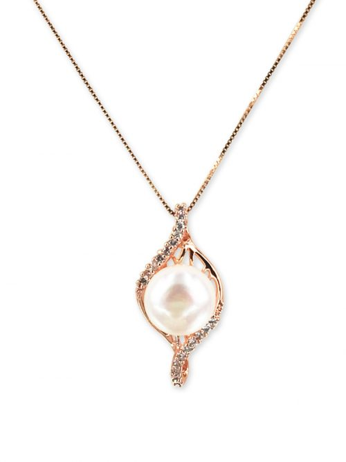 PACIFIC PEARLS ROYAL FALLS COLLECTION Diamond Encrusted Prima Ballerina Pearl Pendant