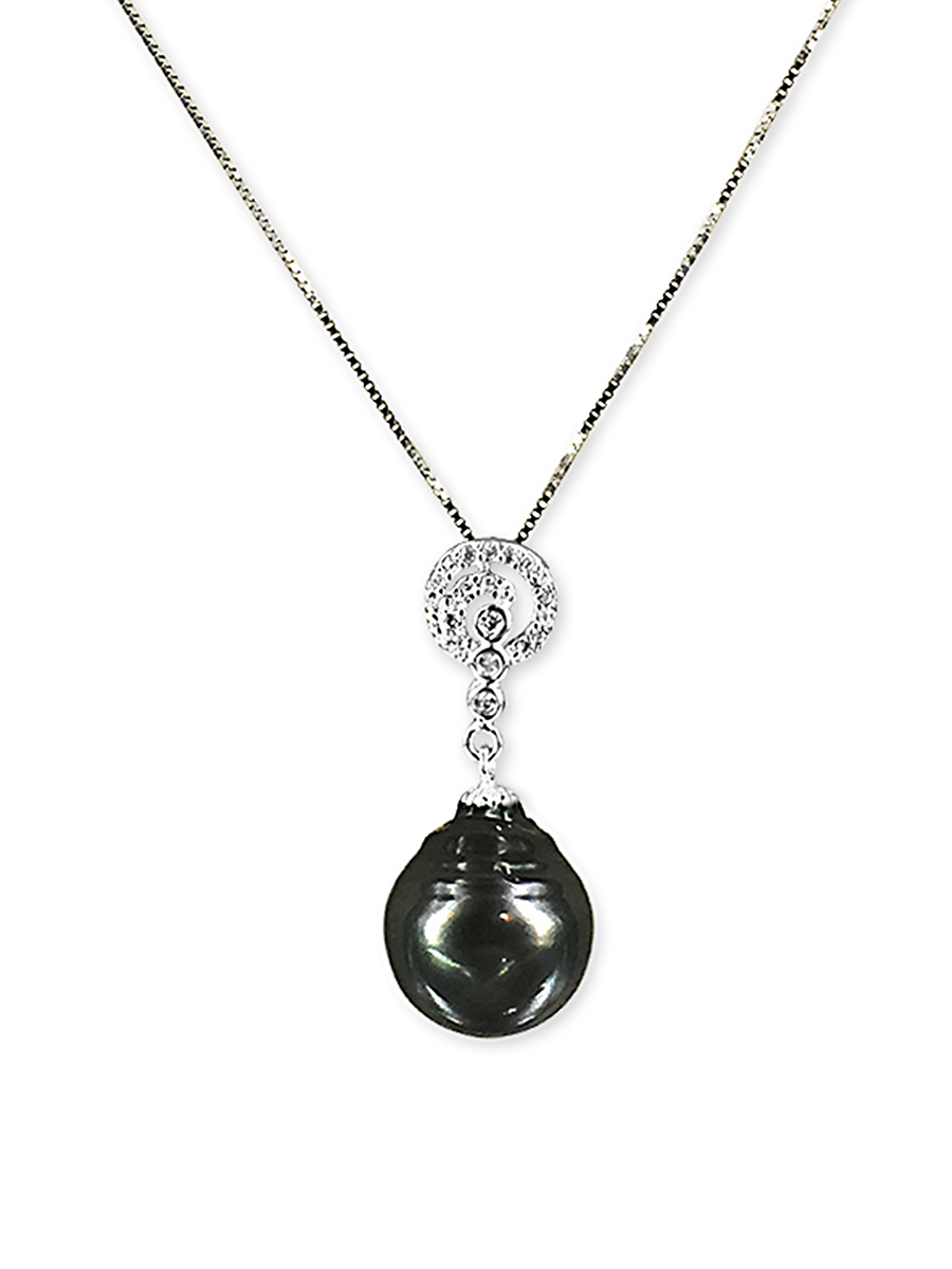 PACIFIC PEARLS TAHITIAN COLLECTION Jaipur Princess 13-14mm Tahitian Baroque Pearl Pendant
