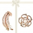 PACIFIC PEARLS VANUATU COLLECTION Fern and Begonia Pearl Brooch Gift Set