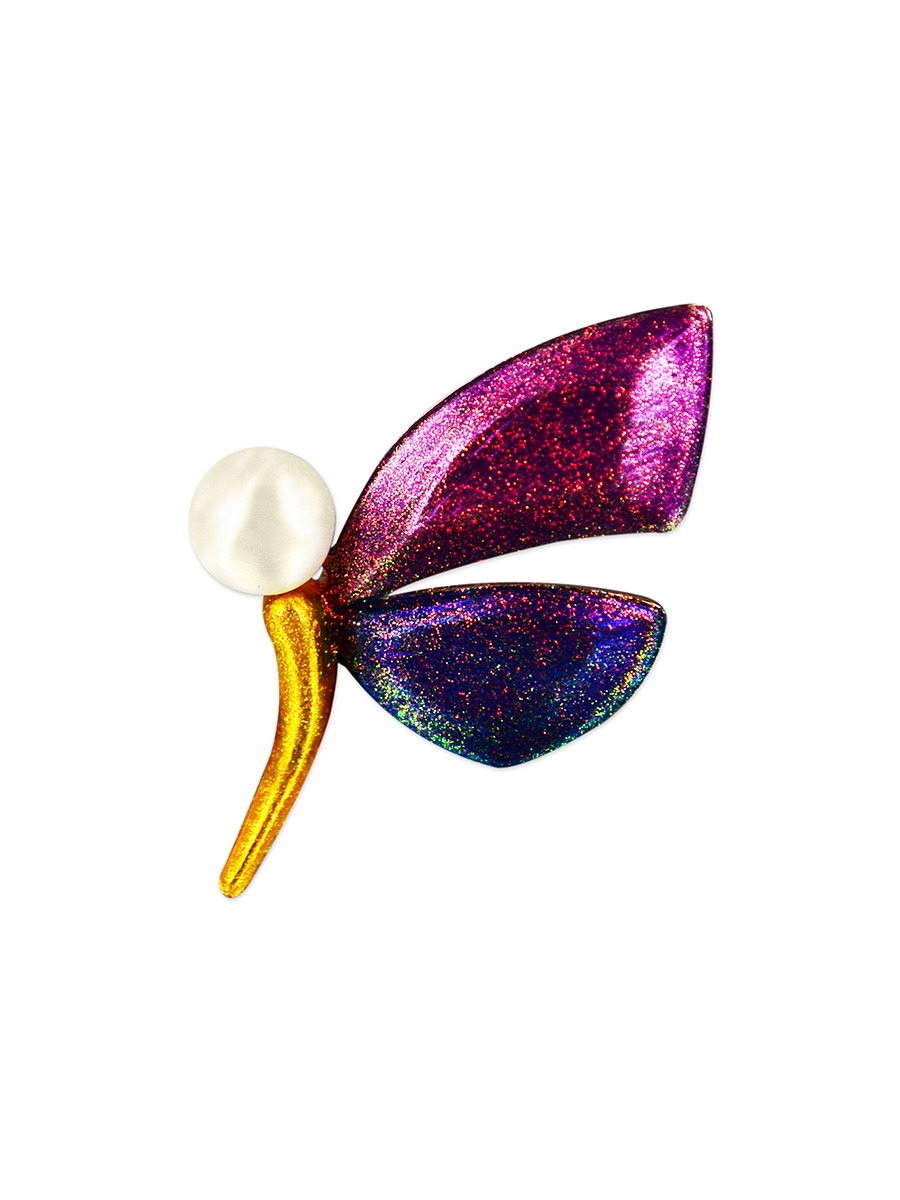 PACIFIC PEARLS VANUATU COLLECTION Madagascar Butterfly Pearl Brooch
