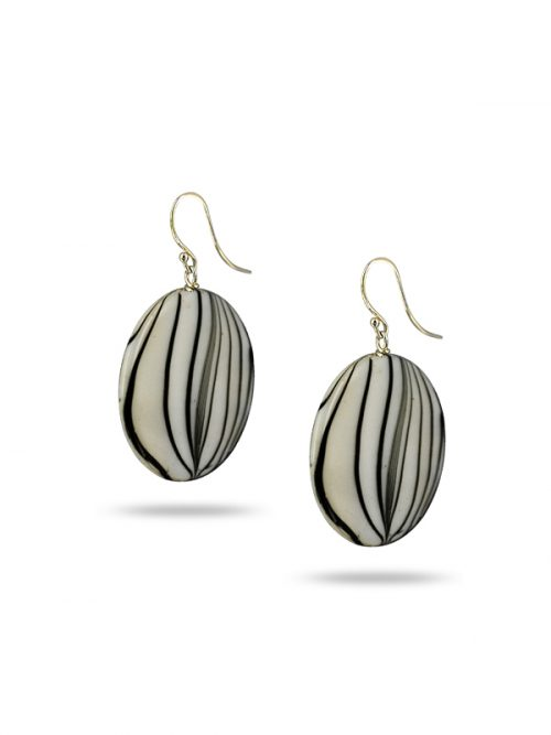 PACIFIC PEARLS MAUNA LOA COLLECTION Candy Stripe Mother-of-Pearl Earrings