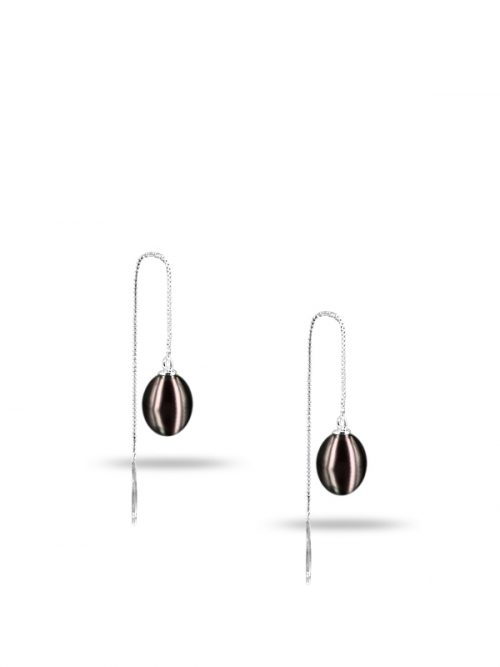 PACIFIC PEARLS NEW CALEDONIA COLLECTION Ananya Versatile Black Pearl Earrings