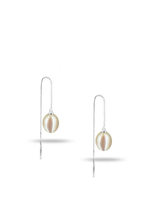 PACIFIC PEARLS NEW CALEDONIA COLLECTION Ananya Versatile White Pearl Earrings