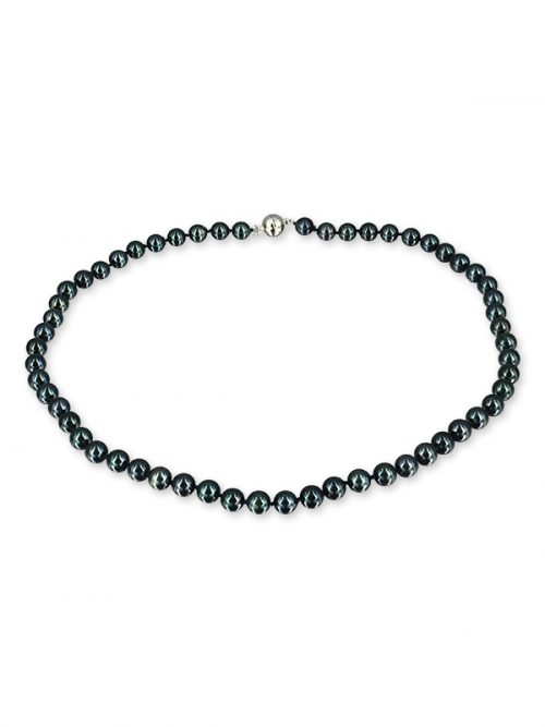PACIFIC PEARLS AKOYA COLLECTION Black 6-7mm Akoya Pearl Necklace
