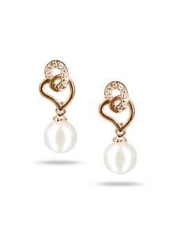 PACIFIC PEARLS AKOYA COLLECTION Flamingo Lily Akoya Pearl Earrings
