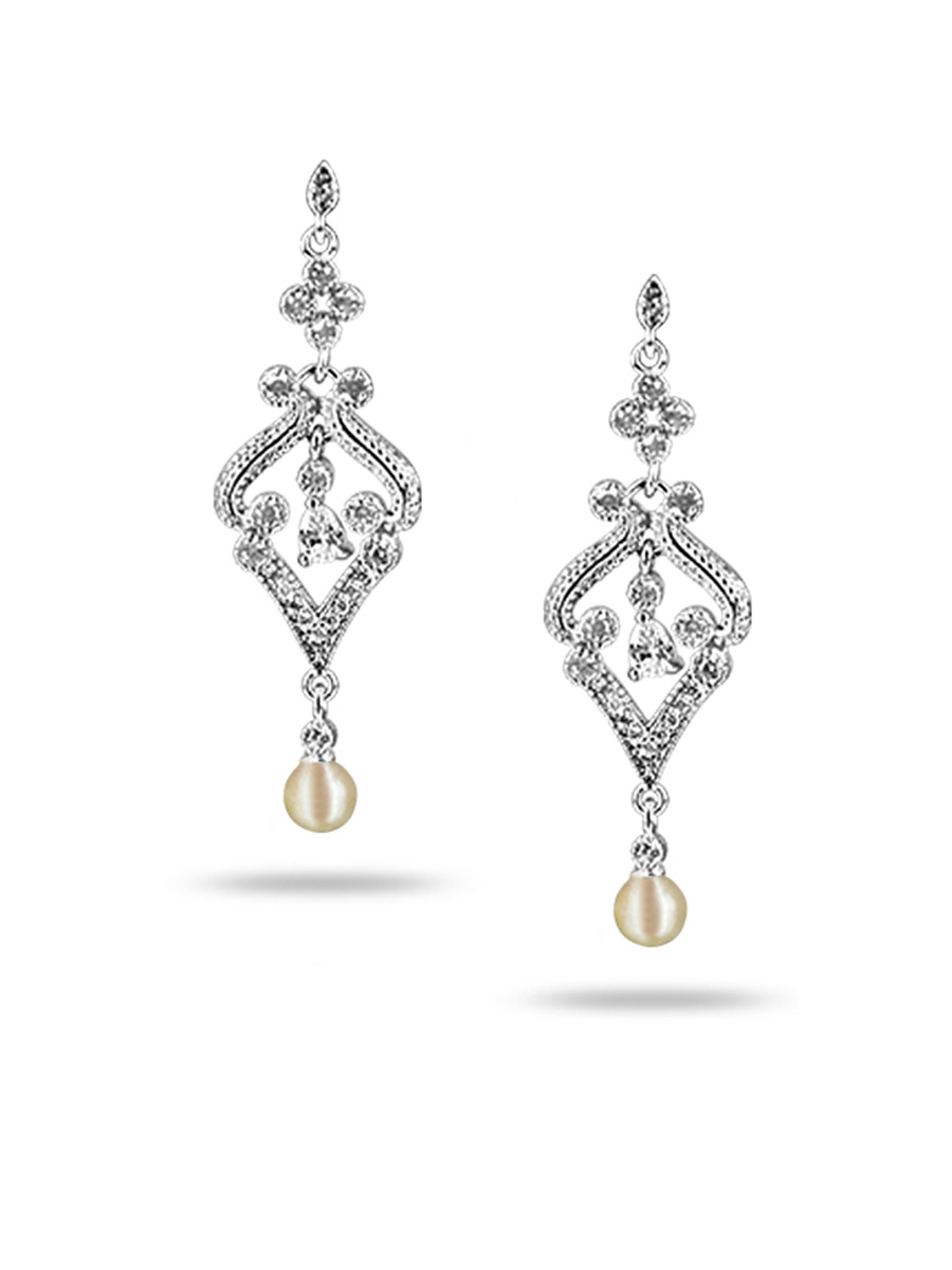 PACIFIC PEARLS AKOYA COLLECTION Taj Mahal Akoya Pearl Earrings
