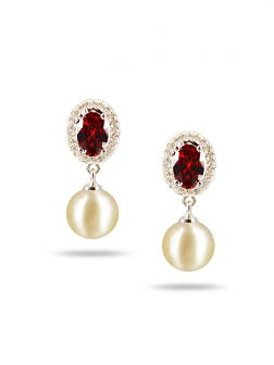 PACIFIC PEARLS AKOYA COLLECTION Victoria Akoya Pearl Earrings