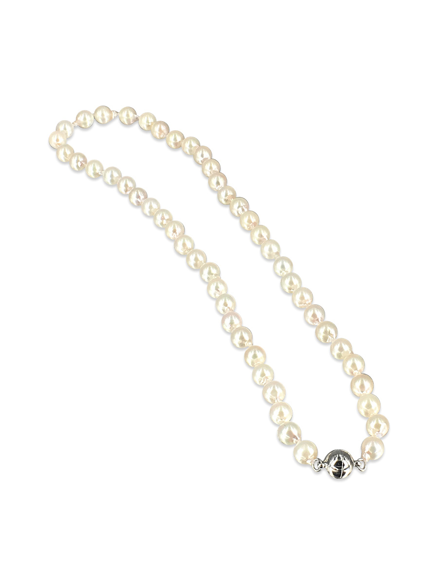 pendant gold on pearl white triple necklace freshwater