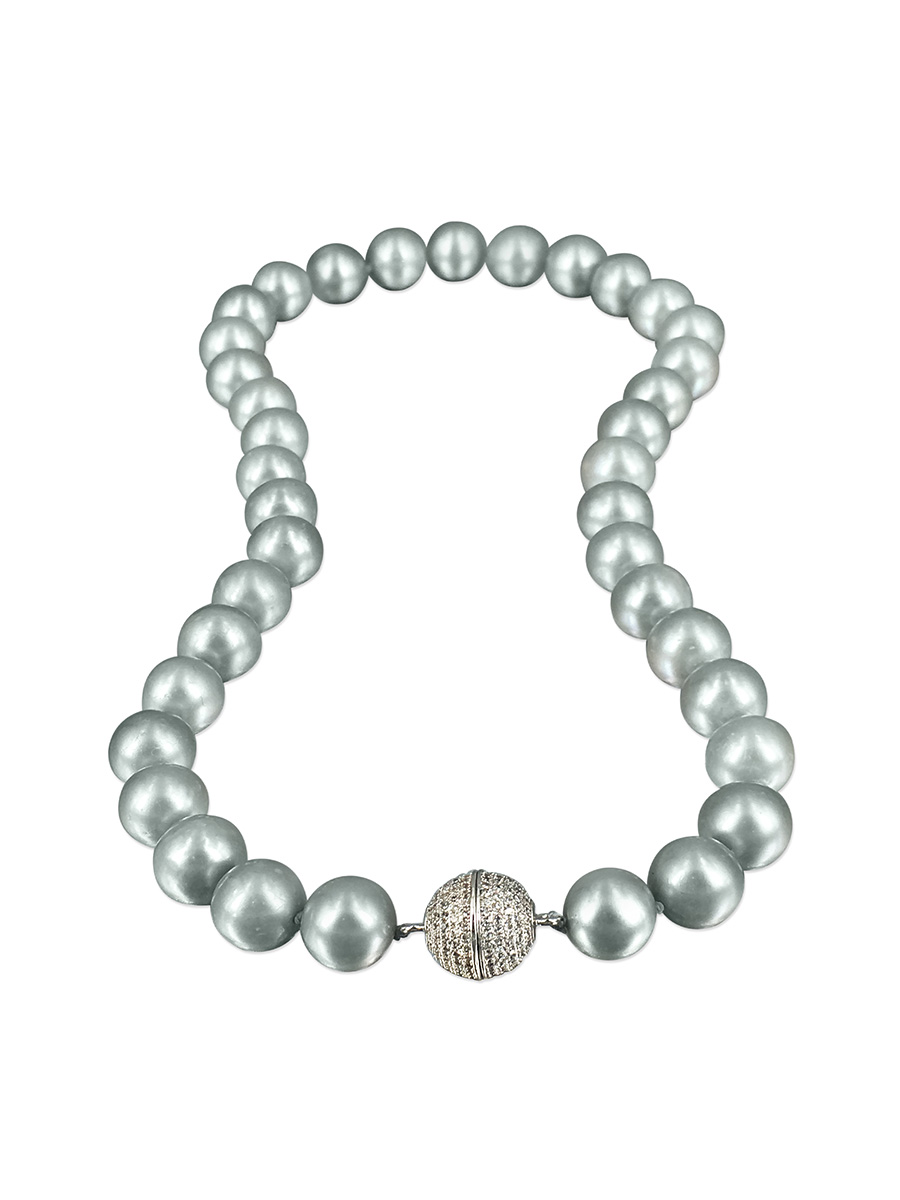 PACIFIC PEARLS VANUATU COLLECTION Mist 11-12mm Pearl Necklace