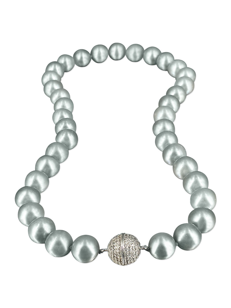 PACIFIC PEARLS VANUATU COLLECTION Mist 11mm-12mm Pearl Necklace