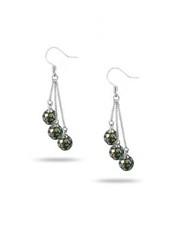 PACIFIC PEARLS GALÁPAGOS COLLECTION 8mm Pāua Triple Drop Earrings
