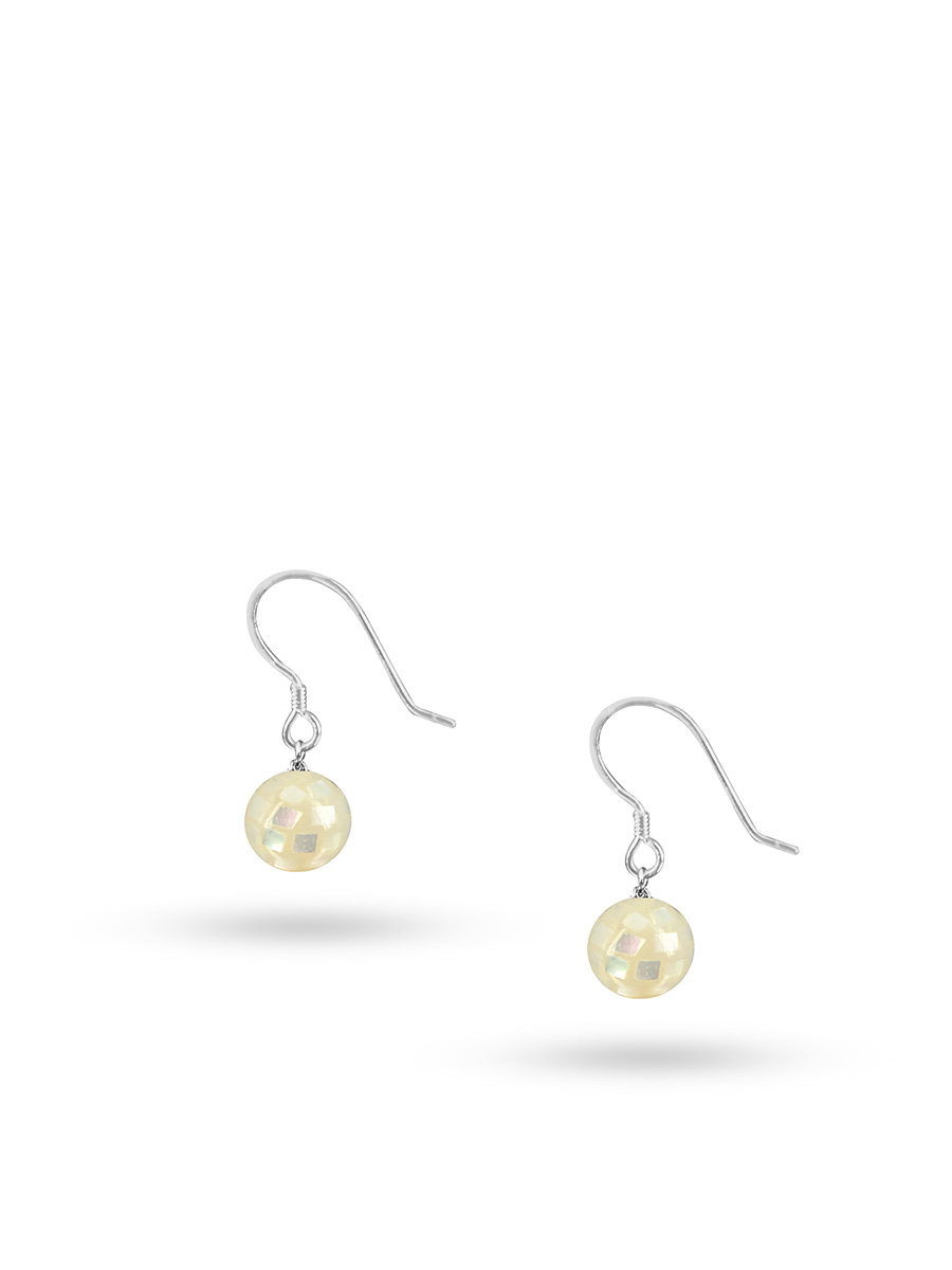 PACIFIC PEARLS SOUTH SEA COLLECTION Retro Disco Ball South Sea Mother-of-Pearl Drop Earrings