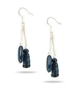 PACIFIC PEARLS TREASURE ISLAND COLLECTION Blueberry Cobbler Sweet Mother-of-Pearl Earrings