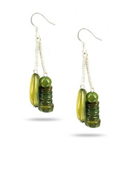 PACIFIC PEARLS TREASURE ISLAND COLLECTION Key Lime Sweet Mother-of-Pearl Earrings