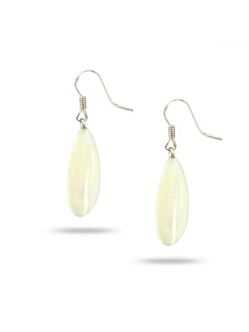 PACIFIC PEARLS TREASURE ISLAND COLLECTION Lily of the Valley Dewdrop Mother-of-Pearl Earrings