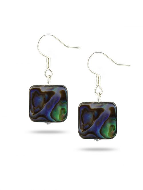 PACIFIC PEARLS NEW ZEALAND ABALONE COLLECTION Laila Abalone Statement Earrings
