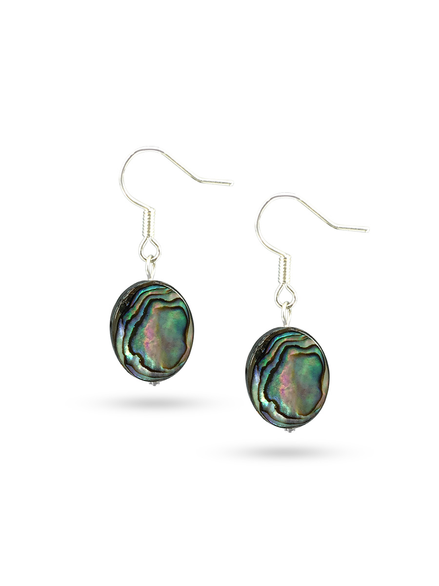 PACIFIC PEARLS NEW ZEALAND ABALONE COLLECTION Maia Abalone Statement Earrings