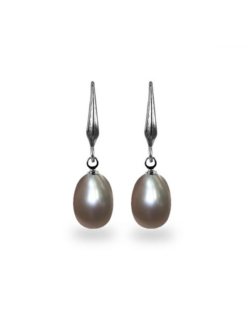 PACIFIC PEARLS KIRIBATI COLLECTION Lilac 9-10mm Pearl Drop Earrings