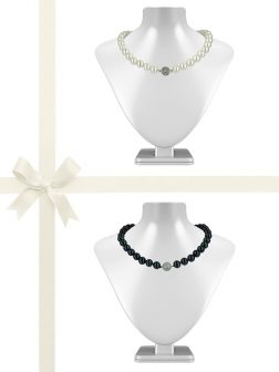 PACIFIC PEARLS VANUATU COLLECTION 11mm-12mm Pearl Necklace Gift Set