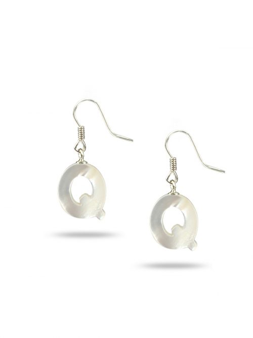 "MAUNA LOA COLLECTION Letter ""Q"" Mother-of-Pearl Earrings"