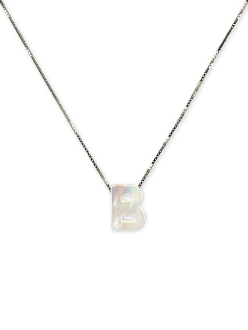 "PACIFIC PEARLS MAUNA LOA COLLECTION Letter ""B"" Mother-of-Pearl Pendant"