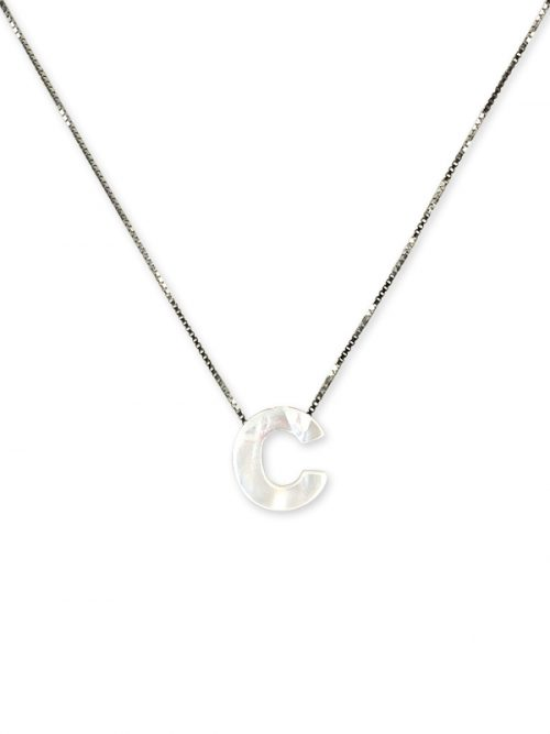 "PACIFIC PEARLS MAUNA LOA COLLECTION Letter ""C"" Mother-of-Pearl Pendant"